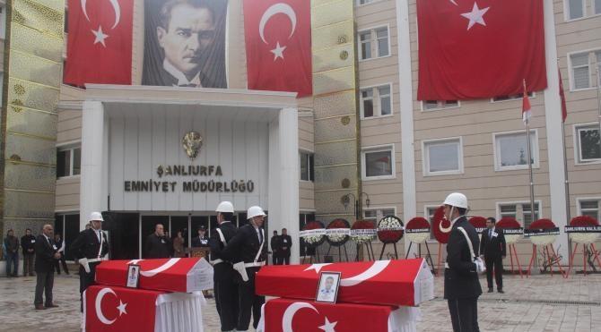 Şanlıurfa'da şehit polisler için tören