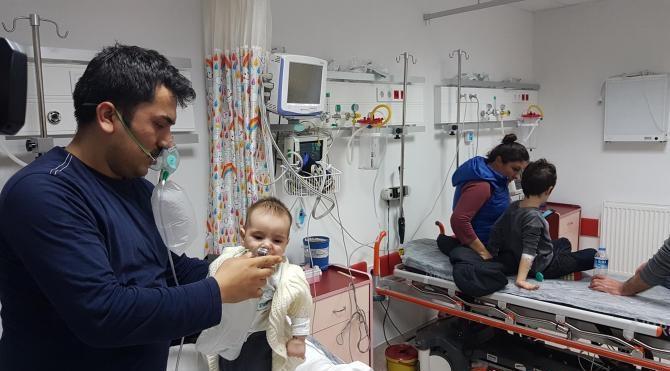 Samsun'da yangın; 2'si çocuk 5 kişi dumandan etkilendi