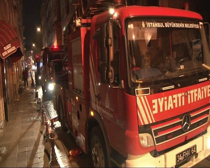 Kadıköy'de öğrenci yurdu yangını