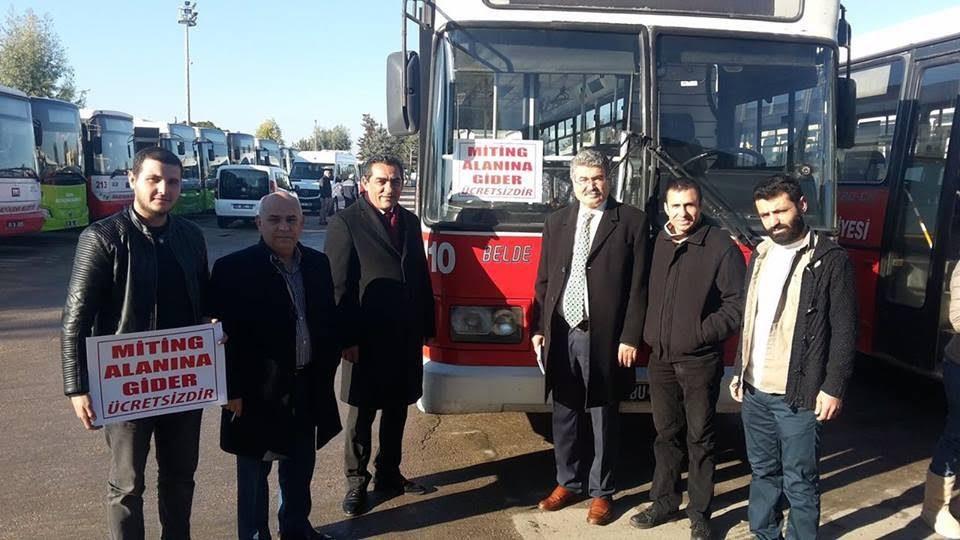 FOTO:SÖZCÜ - Adana Büyükşehir Belediyesi tarafından 20 belediye otobüsü, Kılıçdaroğlu'nun mitingi için tahsis edildi.