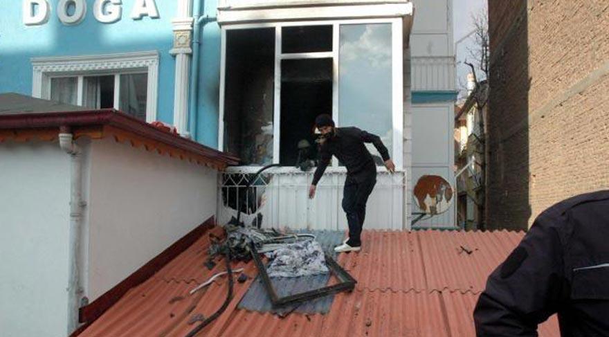 Bir yurt yangın haberi de Tokat'tan!