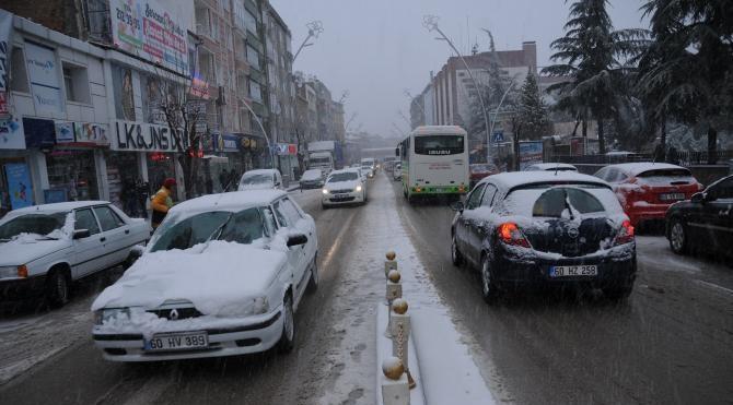 Tokat'ta okullara kar tatili
