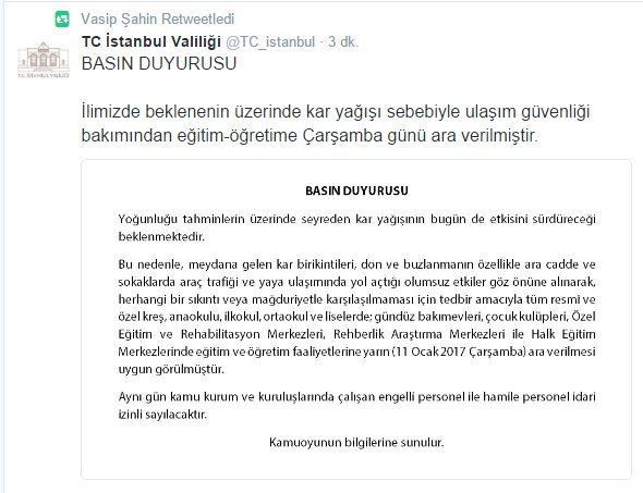 11-ocak-istanbul-kar-tatili