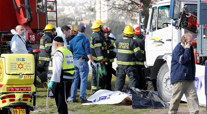 Kudüs'te kamyonlu saldırı! Çok sayıda ölü ve yaralı var