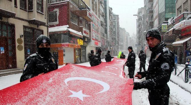Zonguldak'ta Sarıkamış yürüyüşü