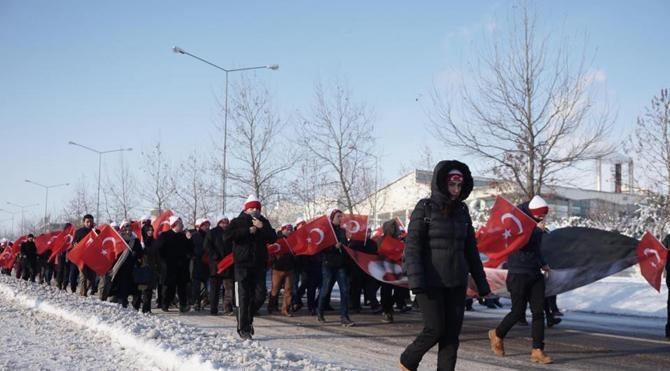 Edirne'de eksi 10 derecede Sarıkamış şehitleri yürüyüşü (2)