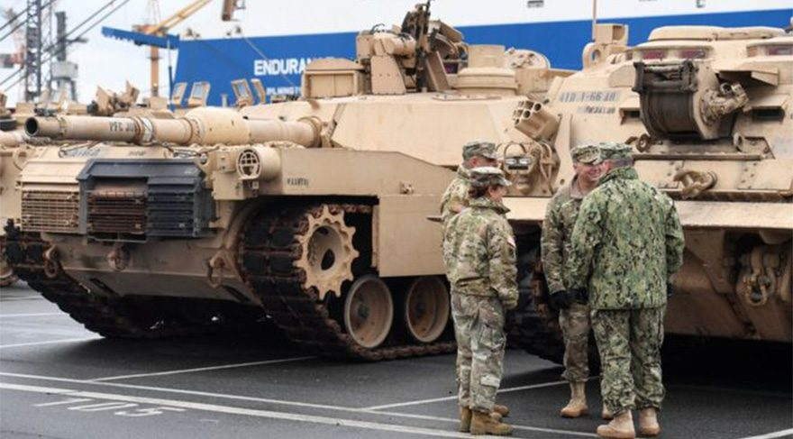 ABD'den Soğuk Savaş sonrası Avrupa'ya en büyük askeri sevkıyat