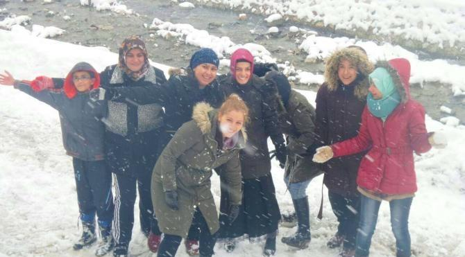 Erfelek'te kar eğlencesi