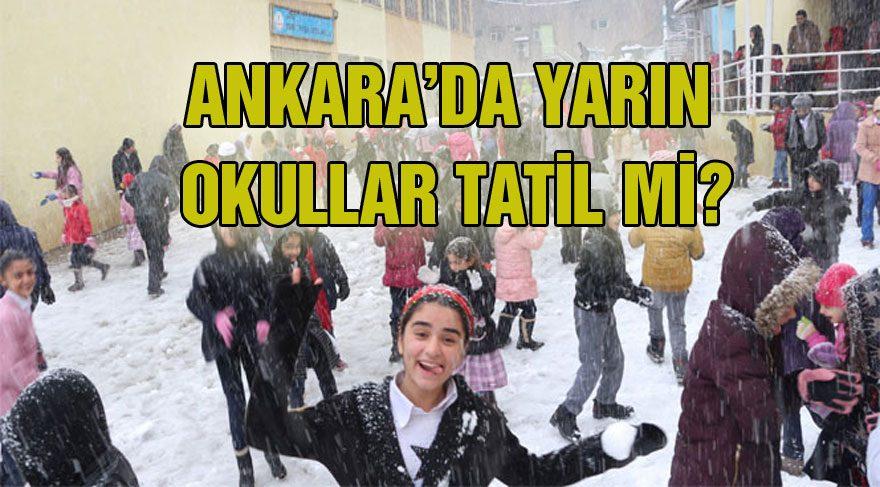Ankara'da okullar yarın tatil mi? Vali Ercan Topaca Twitter'da açıkladı!