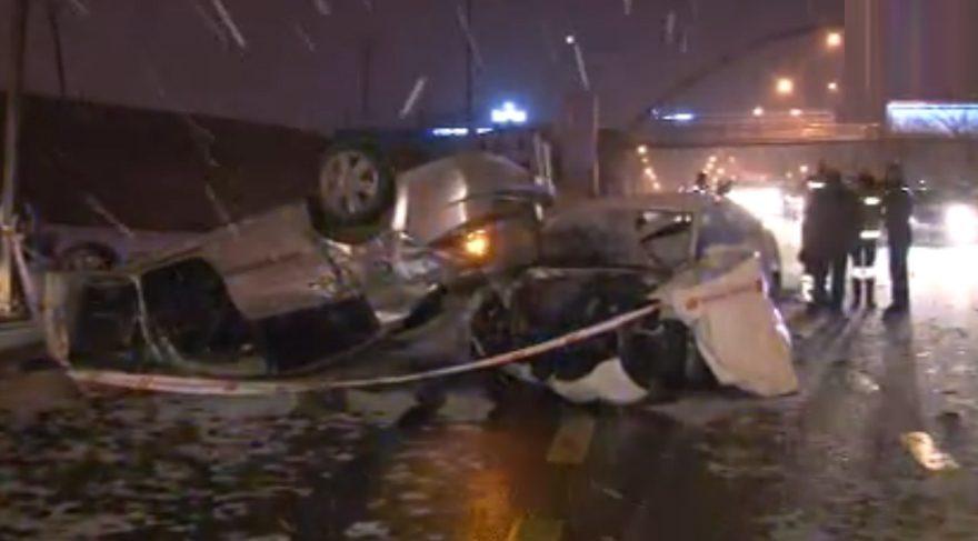 Başkent'te feci kaza: 1 ölü 1 yaralı