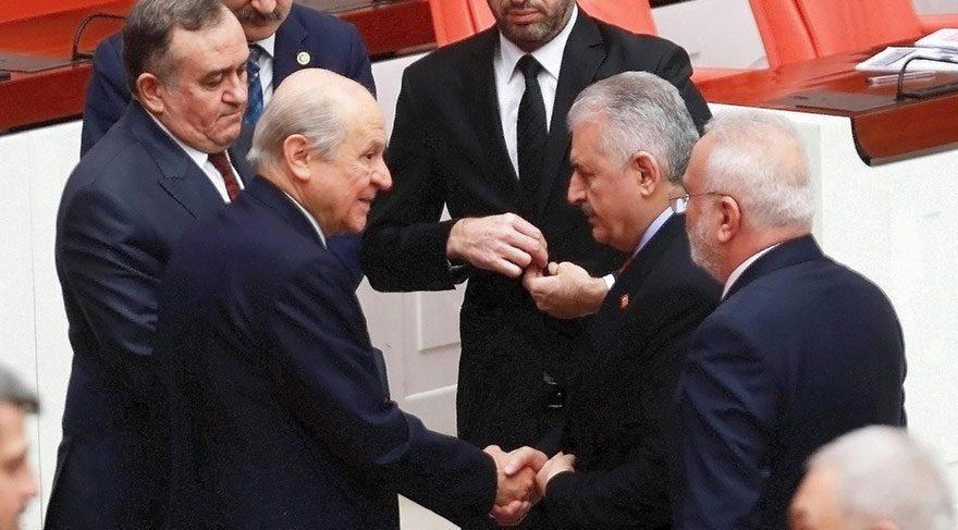 Başbakan Yıldırım'dan Bahçeli'ye teşekkür