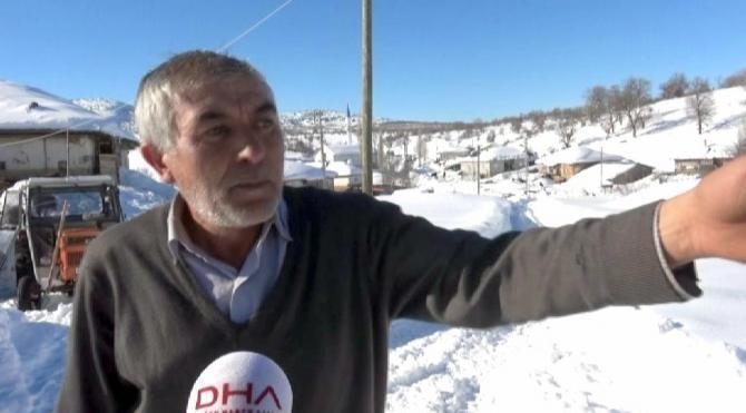 Yaylada çobanlar 400 koyun ve 9 köpekle karda mahsur kaldı