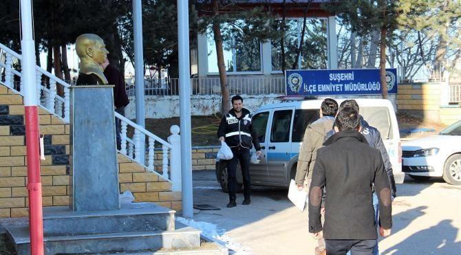 Suşehri'ndeki FETÖ operasyonunda 7 tutuklama