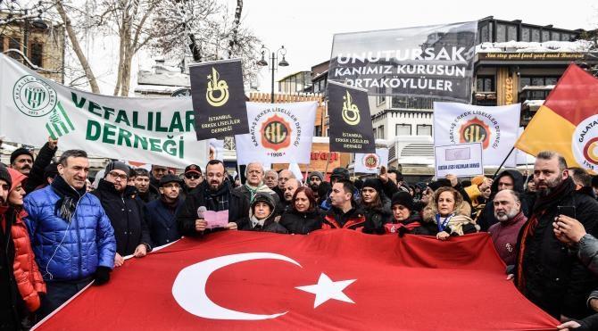 Ortaköy'de terör protesto edildi…