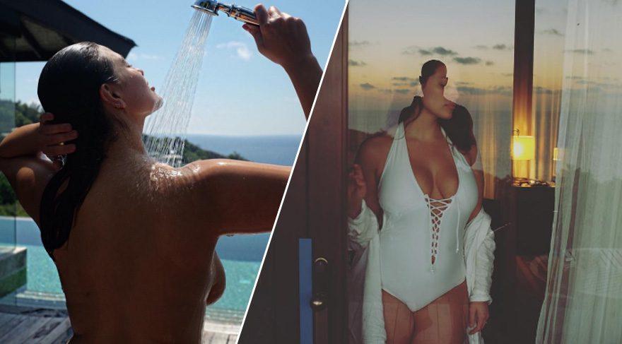 Büyük beden model Ashley Graham'ın pozuna beğeni yağdı