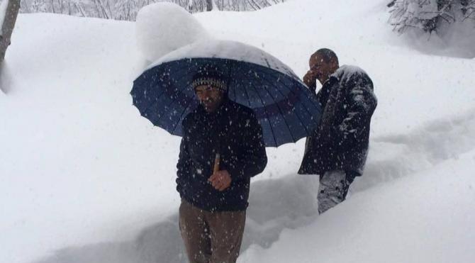 Ordu'da kar nedeniyle 531 mahalle yolu ulaşıma kapandı