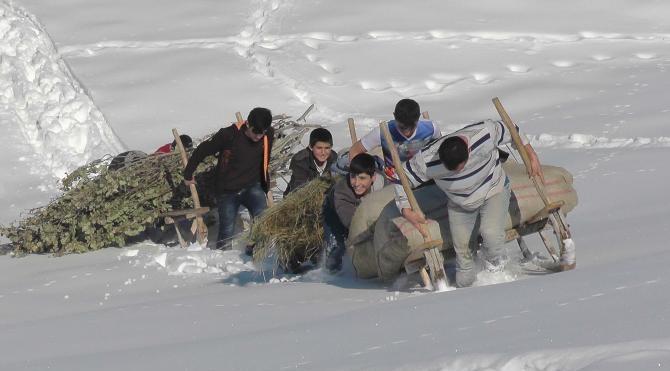 Muş'ta besicilerin kış çilesi