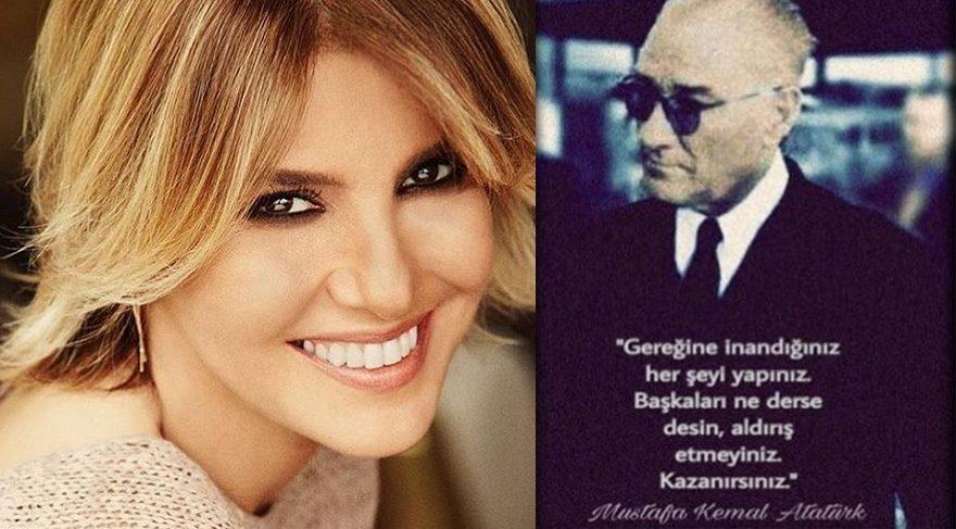 Gülben Ergen'den Atatürk paylaşımı