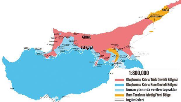 Kıbrıs basınında yer alan haritanın örneğine yer verildi.