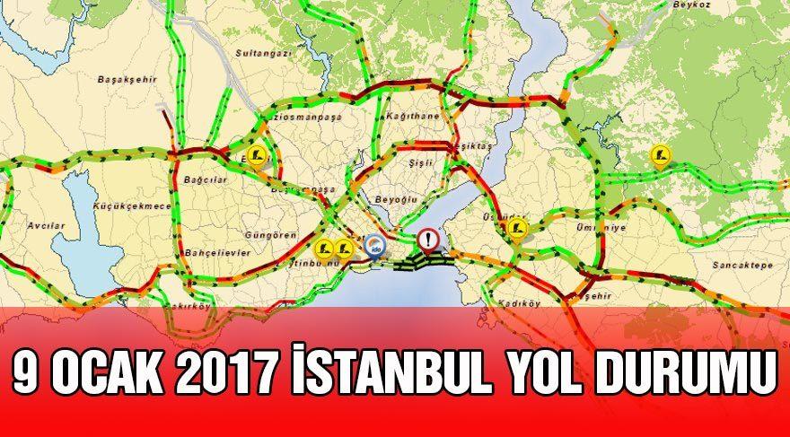 İstanbul yol durumu Yandex – İBB Trafik harita (canlı): İstanbul kar altında!