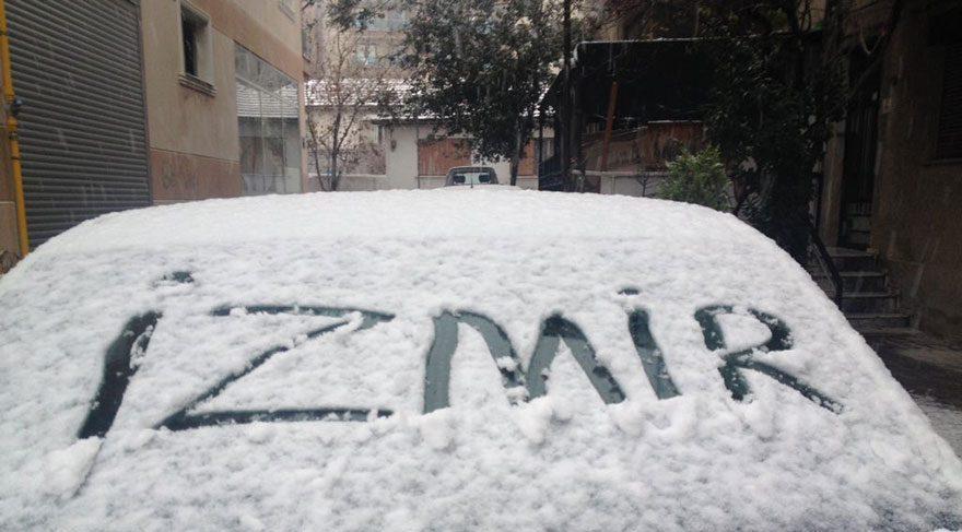 Son dakika haberi… İzmir'e de kar yağdı