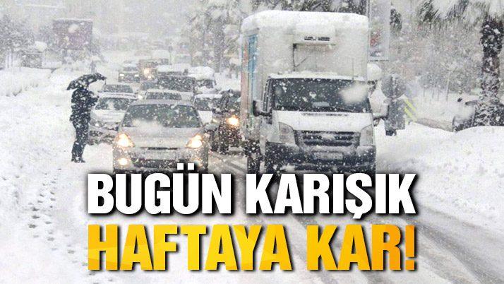 İstanbul'a kar geri mi geliyor?