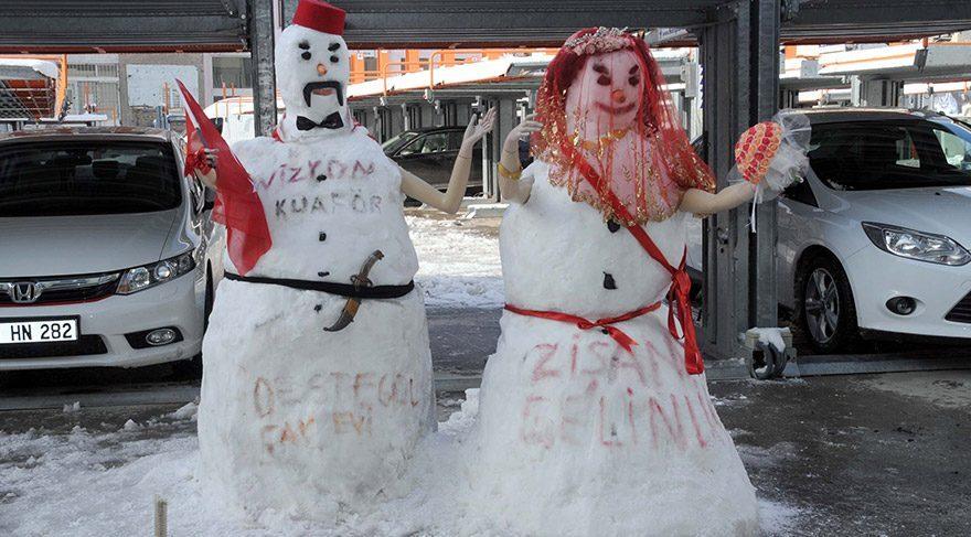 Kardan gelin damat yaptılar
