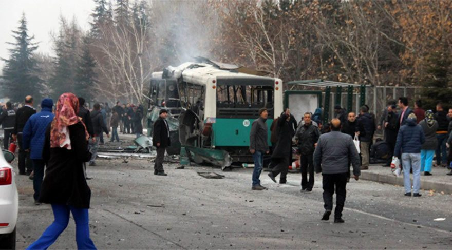 Kayseri'deki bombalı saldırıyla ilgili 5'i asker 20 kişi tutuklandı