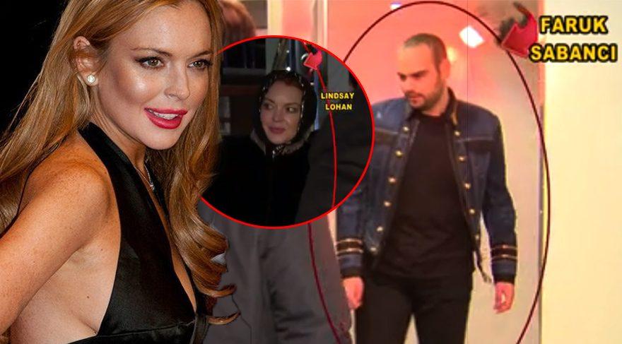 Lindsay Lohan, İstanbul'da Faruk Sabancı ile buluştu