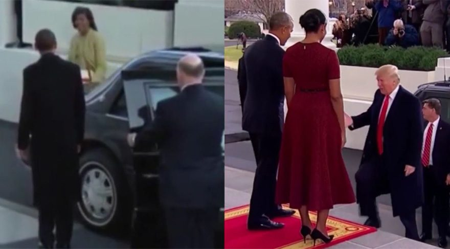 Obama-Trump arasındaki fark... Sadece birkaç saniye yetti!