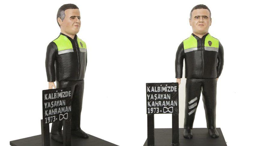 Kahraman polis Fethi Sekin'in küçük heykeli yapıldı