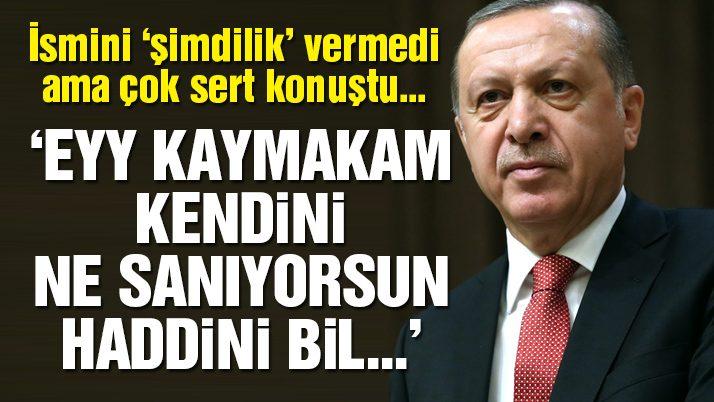 Erdoğan'dan kaymakama sert sözler