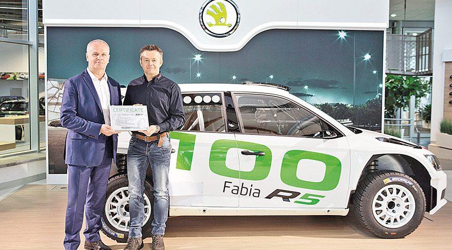 100'üncü Skoda Fabia r5 teslim edildi
