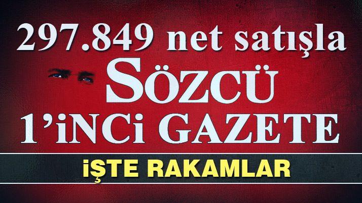 SÖZCÜ 297 bin net satışla 1'inci gazete