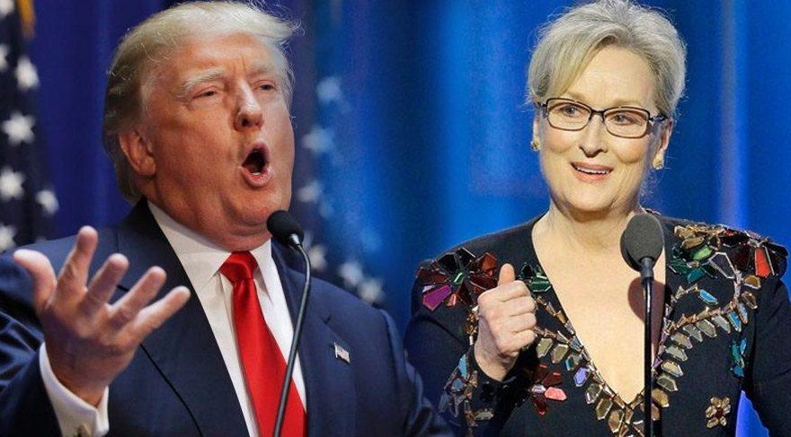 Trump'tan Meryl'e yanıt gecikmedi