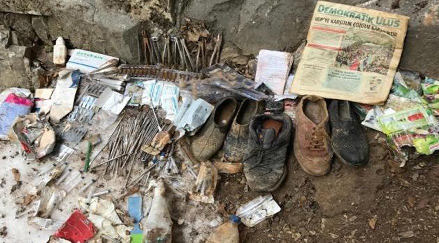 Tunceli de teröristlerin kullandığı 19 sığınak bulundu