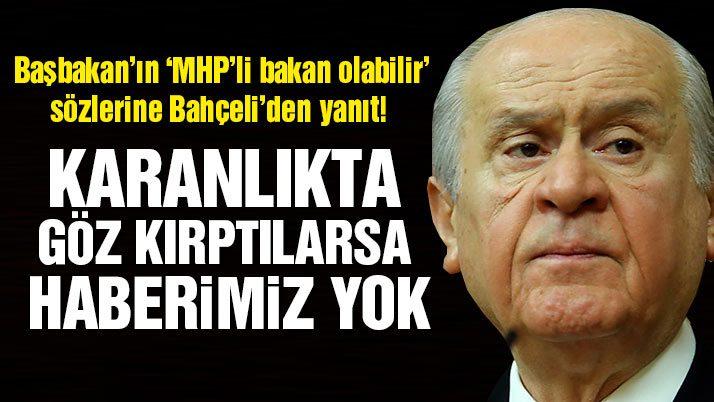 MHP lideri Bahçeli'den Başbakan'a yanıt