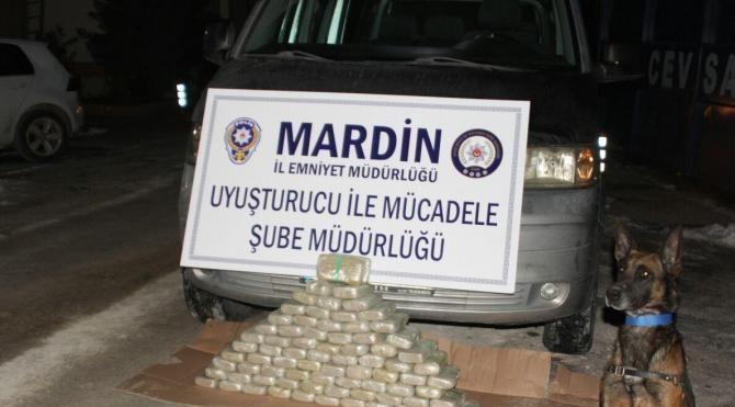Mardin'de uyuşturucu operasyonu: 39 kilo eroin ele geçirildi