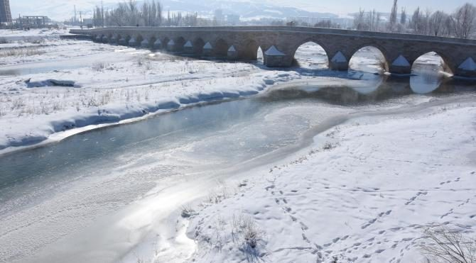 Sivas'ta hayat buz kesti