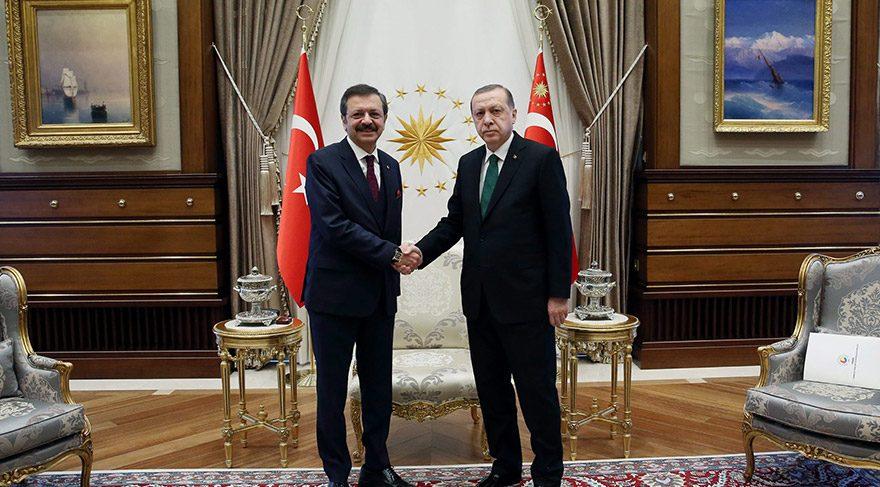 Erdoğan, Hisarcıklıoğlu'nu kabul etti