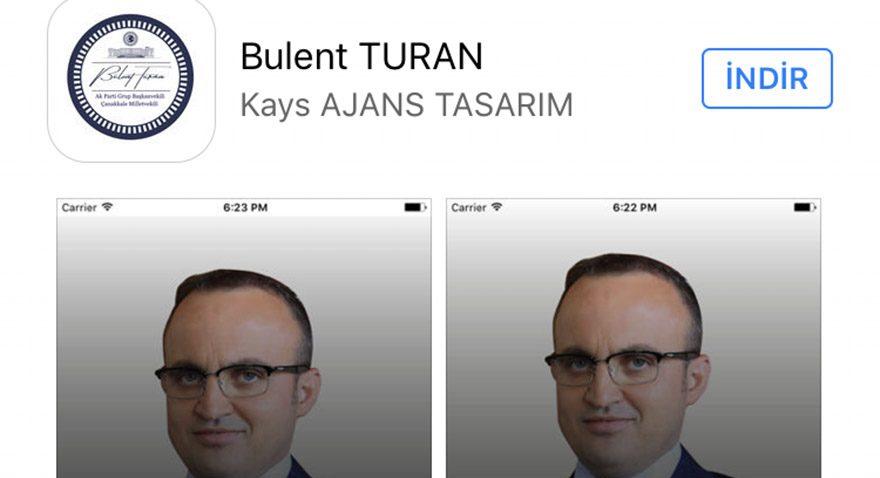 Bülent Turan'ın iPhone uygulaması dikkat çekiyor