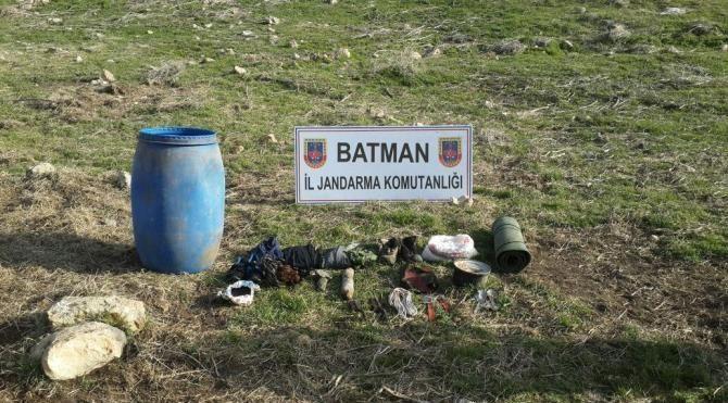 Hasankeyf'te PKK sığınağı bulundu
