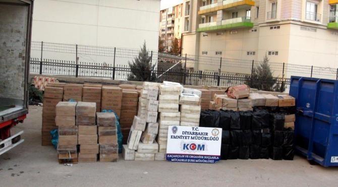Diyarbakır'da 2 milyon 282 bin liralık kaçak sigara ele geçirildi