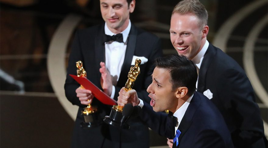 Justin Hurwitz, Benj Pasek and Justin Paul... En iyi özgün film müziğiyle Oscar'a değer görüldü.