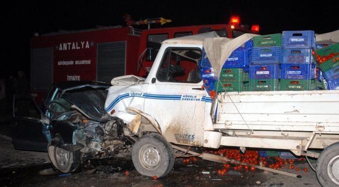 Eşini almaya giderken kazada yaşamını yitirdi