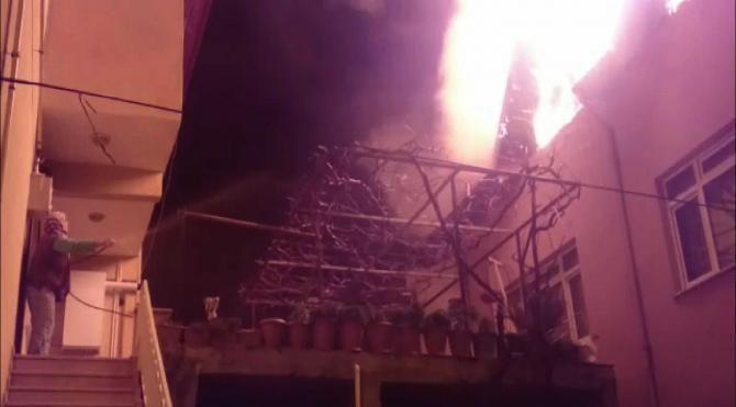 İznik'te korkutan yangın
