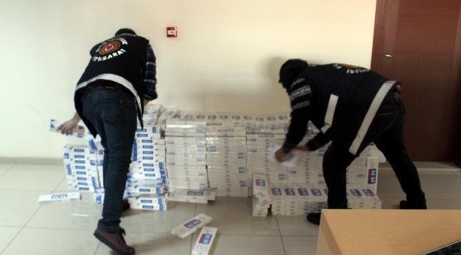 Van'da geçen yıl, 6 milyon 600 bin lira değerinde kaçak sigara ele geçirildi