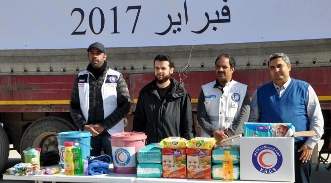 İHH ve Kuveyt Kızılay'ından Haleplilere yardım