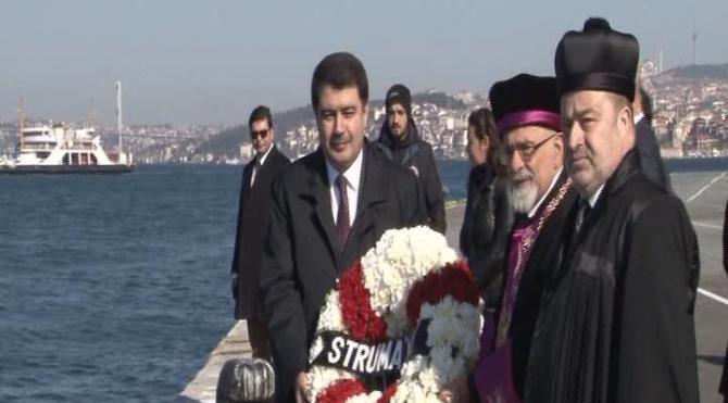 Struma faciasında hayatını kaybedenler Sarayburnu'nda anıldı