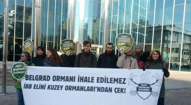 HaliçKemerburgaz dekovili için içeride ihale, dışarıda protesto